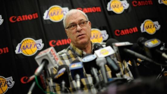 Kobe Bryant And Phil Jackson Address The Media