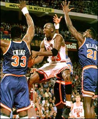 Michael Jordan Torches the New York Knicks for 54 points in the 1993 NBAplayoffs