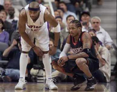 Allen Iverson and Vince Carter Trade 50 point games in 2001 Playoff Series(Video)