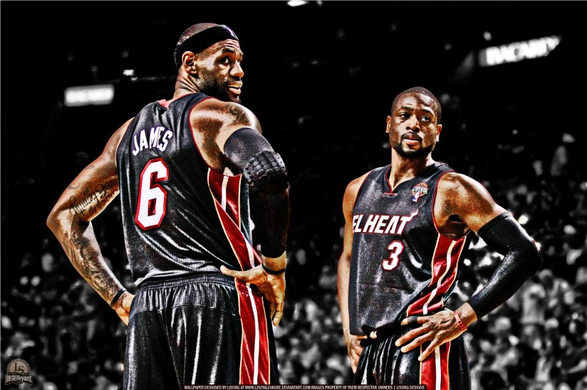 Lebron-James-And-Dwyane-Wade-Miami-Heat-In-NBA